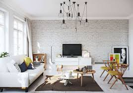 16 Fascinating Living Room Designs With White Brick Walls  Top White Brick Wall Living Room