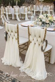 53 cool wedding chair decor ideas with fabric and ribbon gold chairs with white woven chair covers