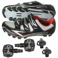 Details About Venzo Mountain Bike Bicycle Cycling Shimano Spd Shoes Pedals Cleats