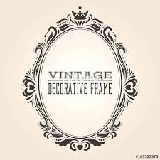 oval frame tattoo design. Victorian Oval Frame Vintage Ornate Border And Royal Baroque  Style Decorative Design Elegant Tattoo L