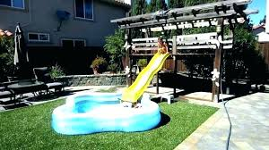 in ground pools with slides. Plain Ground Water Slide For Inground Pool Custom Slides Pools Swimming  Image Of Banzai Falls In Ground Throughout With