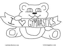 Small Picture Gymnastics coloring page Childrens Gymnastics Pinterest