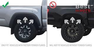 Toyota Tacoma Mud Flaps 2016-2018 Mud Guards Splash Flares Molded ...