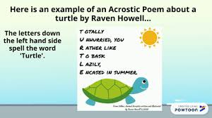 acrostic poems year 2 you