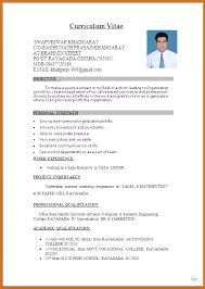 Current Curriculum Vitae Format Latest Cv Format Cv Format