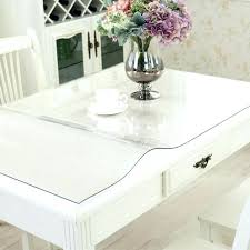clear plastic tablecloth protector table cover clear vinyl round tablecloth protector