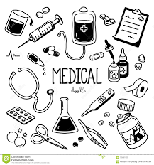 Doodle Medical Hand Drawing Styles For Medical Stock Vector