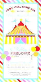 Carnival 1st Birthday Party Invitations Carnival Themed Birthday
