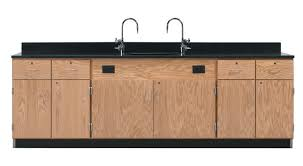 diversified woodcrafts wall service bench with door drawer unit countertop 108 x 24 x 36 inches phenolic resin top
