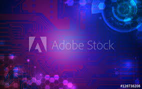 Purple And Blue Background Dark Purple And Blue Technology Background And Abstract Digital Tech