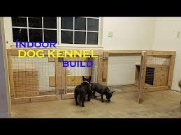 super easy indoor dog kennel build