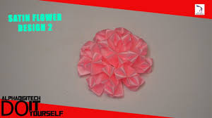 How To Make A Paper Ribbon Flower How To Make A Easy Flower With Ribbon Flowers Healthy