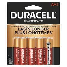 Duracell Battery Sizes Chart Duracell Quantum Aa Batteries 8 Pack