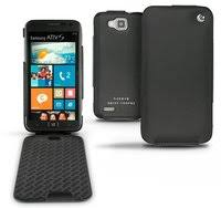 «Кожаный <b>чехол для Samsung SGH</b>-<b>F700</b> (Noreve) (черный ...