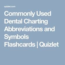 Commonly Used Dental Charting Abbreviations And Symbols