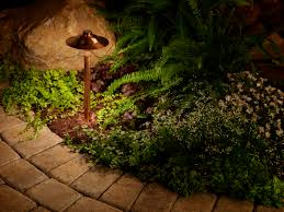 outdoor lighting perspective. evening safety outdoor lighting perspective