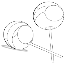 Small Picture Lollipop clipart coloring page Pencil and in color lollipop