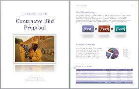 Bid Form Bid Proposal Template For Contractor & Construction : Oninstall