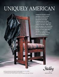 vine stickley furniture adver uniquely american harley jacket