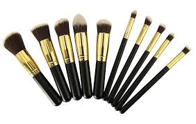 premium synthetic kabuki makeup brush set cosmetics foundation blending blush eyeliner face powder brush makeup brush stiffer bristle brushes are good for