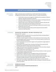 Esthetician Resume Sample Objective New Superiorformatting Template
