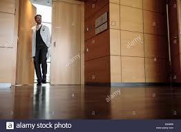 office hallway. Doctor Walking In Office Hallway I