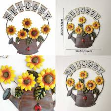 sunflower wall decor metallic iron art