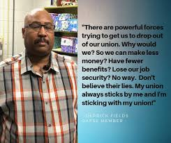 Derrick Fields is sticking with his union. - OAPSE/AFSCME Local 4 | Facebook