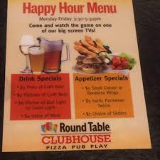 round table happy hour unique s