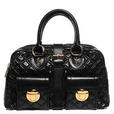MARC JACOBS Nappa Leather Quilted Venetia Satchel Black 92968 & MARC JACOBS Nappa Leather Quilted Venetia Satchel Black. Pinch/Zoom Adamdwight.com