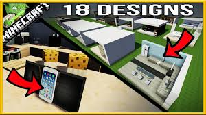 Minecraft Modern Kitchen 18 Minecraft Modern Kitchen Designs Youtube