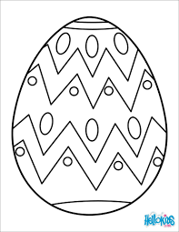 Painted Easter Egg Coloring Pages