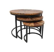 3 piece round coffee table set