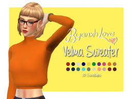 BxL] Velma Sweater - The Sims 4 Download - SimsDomination