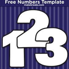 Free Printable Bold Number Templates Make Breaks
