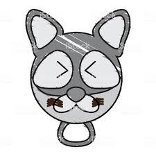 図面のタヌキ顔の動物 アライグマのベクターアート素材や画像を多数ご