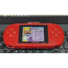 Máy chơi game cầm tay 4 nút kèm 2 băng chơi PSP, NEs - PSP16bit