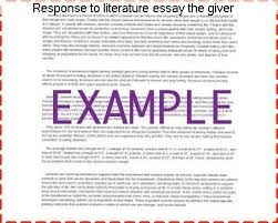 response to literature essay the giver coursework service response to literature essay the giver literature circles fall giver ors giver open response