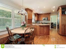 Kitchen Eating Area Wood Cabinet Kitchen And Eating Area Stock Photo Image 12656800