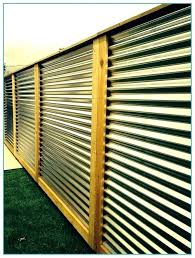 corrugated metal fence. Interesting Fence Corrugated Metal Fence Cost Iron In
