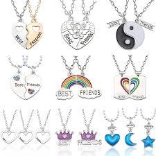 Best Friend <b>Necklace</b> Women <b>Crystal Heart</b> Tai Chi Crown Best ...