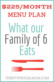 family meals month 225 month menu plan for our family of 6 post 38