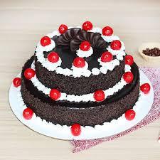 2 Tier Black Forest Cake 3 Kg Eggless Floweraura