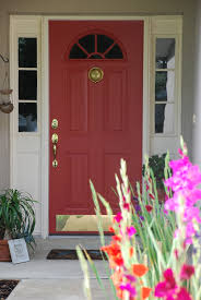 this beautiful Benjamin Moore Aura Exterior, Satin finish paint. I think  Benjamin Moore has beautiful colours. This one is called Moroccan Red