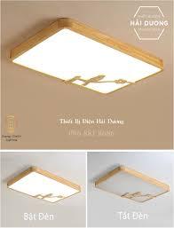 Đèn LED Ốp Trần Gỗ Hình Chữ Nhật Trang Trí Hình Chú Chim OT-98307 - 3 Chế  Độ Ánh Sáng - Energy Green Lighting - OT-98307 hình chữ nhật | Đèn trần