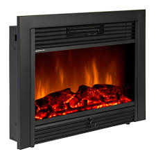 fake fireplace logs com embedded electric insert heater glass view log flame remote home