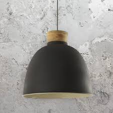 matt dark grey pendant light