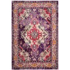 monaco violet fuchsia 8 ft x 10 ft area rug