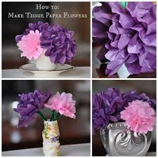 How To Make Flower Out Of Tissue Paper How To Make A Flowers Out Of Tissue Paper Easy To Make