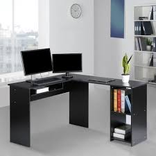 modern computer desk. Brilliant Modern LANGRIA Modern Lshaped Computer Desk Corner PC Latop Study Table  Workstation  EBay On 4